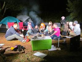 The gang around the campfire in Head (Photo courtesy of Jon Bristol)