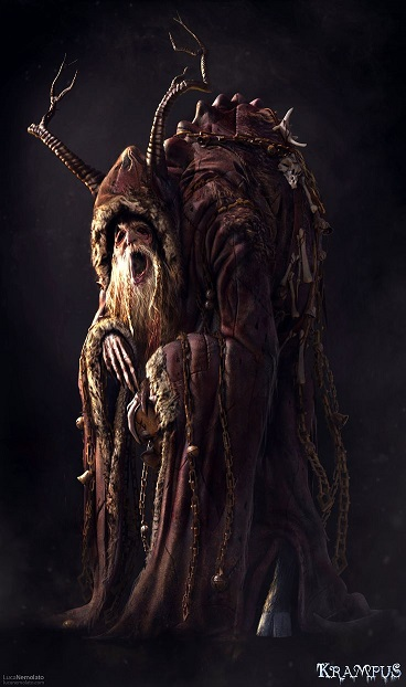 The total package: Krampus as he is in the film