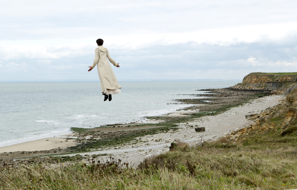 Valeria Bruni Tedeschi takes flight in Slack Bay (Photo courtesy of Kino Lorber)