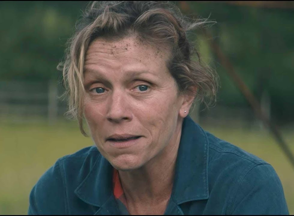Mildred's anguish appears through her tough exterior in Three Billboards Outside Ebbing Missouri