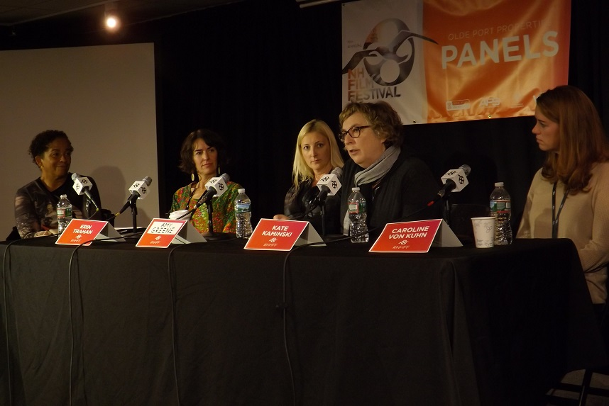 Women in Film Panelists Left to Right: Rae Dawn Chong, Erin Trahan, Amy Greene, Kate Kaminski and Caroline Von Kuhn